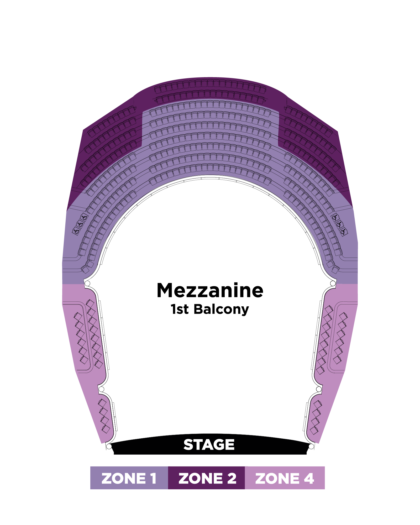 Mezzanine Seating Map