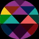 Kaleidoscope mark with many colors