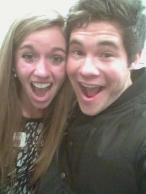 Ashley with actor and comedian, Adam DeVine