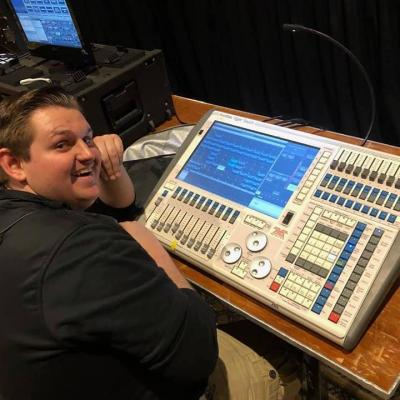 Jake at the sound board