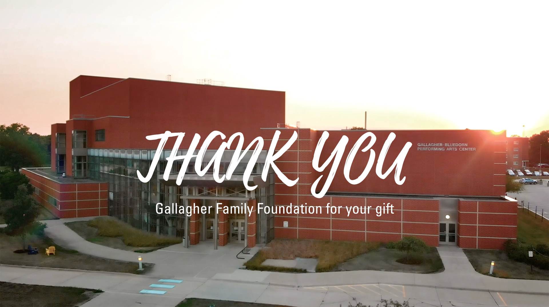 Thank You Gallagher Family Foundation $1 Million Gift