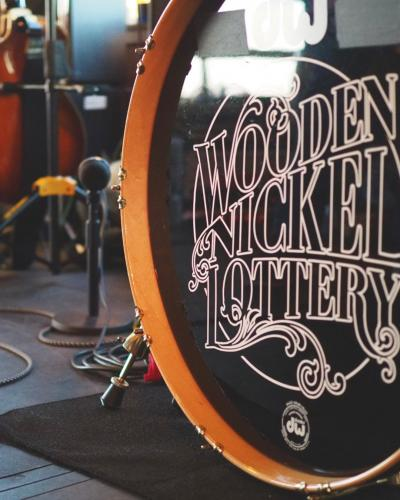 Wooden Nickel Lottery band photo